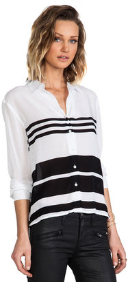 James Perse Relaxed Blanket Stripe Top