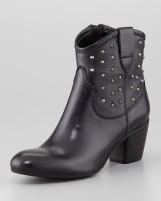 Sesto Meucci Favor Studded Leather Bootie, Black
