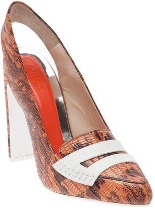 Kenzo Pointed print shoe