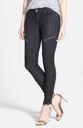 Paige 'Sachi' Ultra Skinny Moto Jeans (Coal)