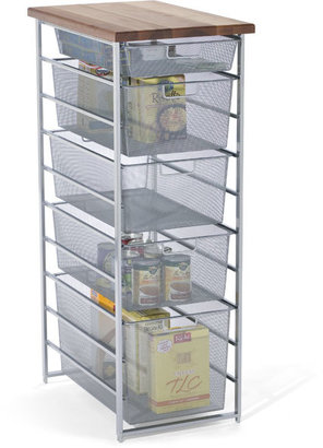 Elfa Mesh Pantry Storage Platinum