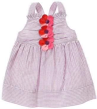 Gymboree Plumeria Blossom Stripe Seersucker Dress
