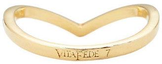 Vita Fede Crystal V Ring: Gold
