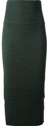 Acne high waist fitted skirt