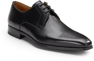 Magnanni Leather Square Toe Lace-Ups