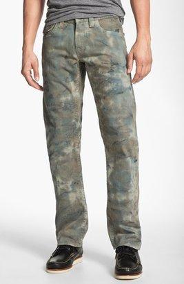 True Religion Brand Jeans 'Ricky' Straight Leg Jeans (Olive)