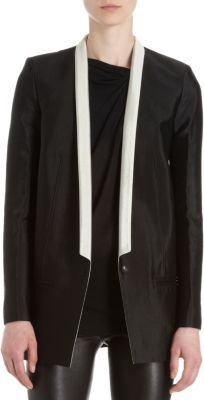 Helmut Lang Contrast Thin Lapel One-Button Jacket