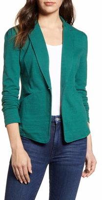 Caslon Knit One-Button Blazer