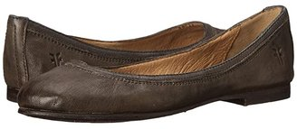 Frye Carson Ballet (Charcoal Antique Soft Full Grain) Women's Flat Shoes