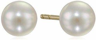 TARA Pearls Natural Color Akoya Pearl A+ Quality 14k Yellow Gold Earrings, 4MM
