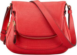 Tom Ford Jennifer Calfskin Crossbody Bag, Flame Red