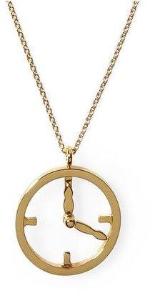 Kate Spade Time Flies Clock Pendant Necklace