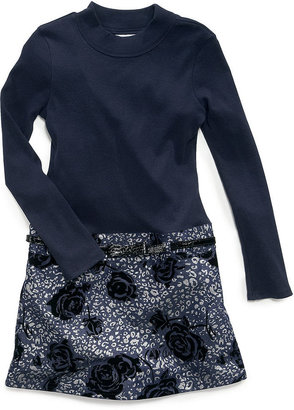 Bonnie Jean Girls Dress, Little Girls Denim Foil Dress