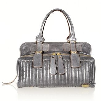 Chloé very good (VG Large Steel Grey Leather East West Bag