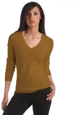 Lord & Taylor Fall Bold Collection Cashmere V-Neck Sweater