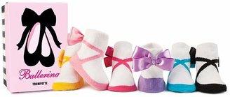 Trumpette Girls' Ballerina Socks, Set of Six - Baby