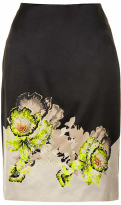 Topshop Orchid embellish pencil skirt