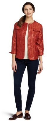 Alfred Dunner Women's Crushed Texture Jacket