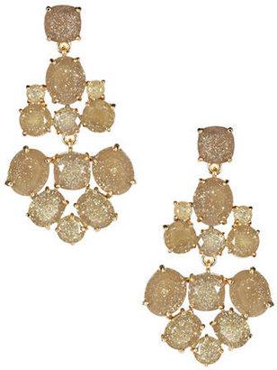 Kate Spade Chandelier Glitter Gold Earrings