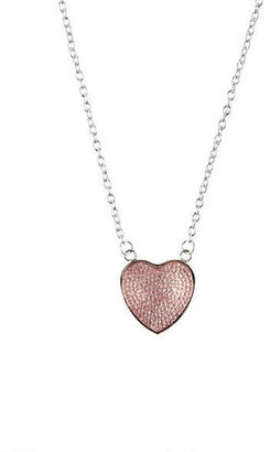 Delia's Puffed Heart Necklace