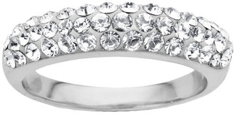 Lord & Taylor Sterling Silver Clear Crystal Ring