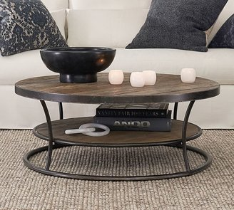 "Pottery Barn Bartlett 42.5"" Round Reclaimed Wood Coffee Table"