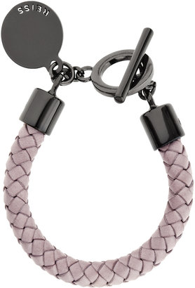 Reiss Frith LEATHER WEAVE BRACELET