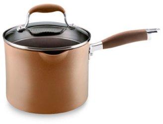 Anolon Advanced Bronze 3 1/2-Quart Straining Saucepan with Spouts