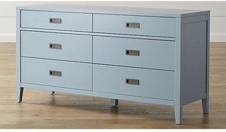 Crate & Barrel Arch Blue Six-Drawer Dresser