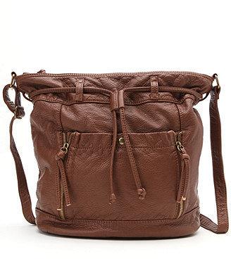 Kirra Large Faux Leather Bucket Bag