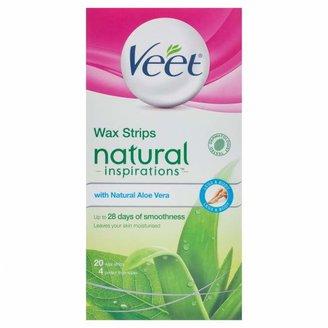 Veet Natural Inspirations Aloe Vera Body Wax Strips 20 pack