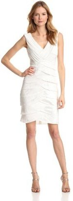 Adrianna Papell Women's Shimmer Shutter Dress