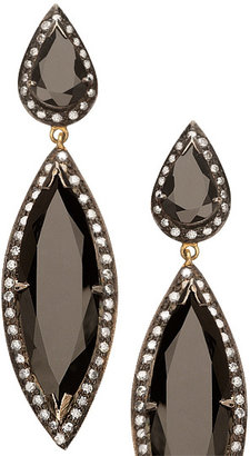 Hari Jewels Onyx Dangling Earrings