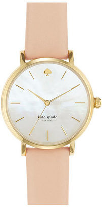 Kate Spade New York 'metro' Round Leather Strap Watch, 34mm $195 thestylecure.com