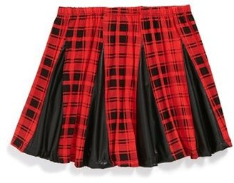 Flowers by Zoe Pleated Plaid Skirt (Big Girls)