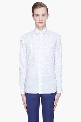 Paul Smith Blue pinstripe and diffuse dot shirt