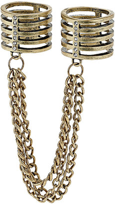 Topshop Double Finger Chain Ring