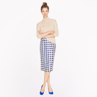 J.Crew Collection No. 2 pencil skirt in houndstooth sequin