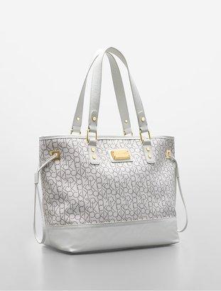 Calvin Klein Simone Maddox Logo Shopper Tote Bag