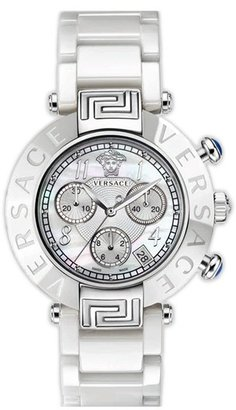 Versace 'Reve Chrono' Ceramic Bracelet Watch, 40mm