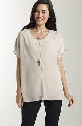 J. Jill Easy linen-blend pullover