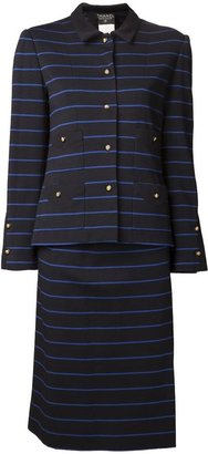 Chanel two piece striped suit