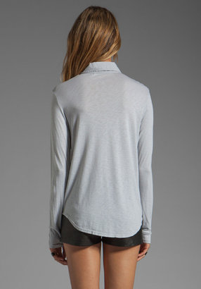 Michael Stars Long Sleeve Shirt with Voile Mix