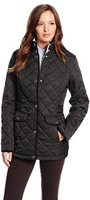 Nautica Women's Diamond Quilted Barn Jacket $62.53 thestylecure.com