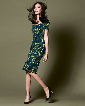 Zac Posen Wren Floral-Print Ruffle-Hem Dress