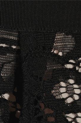 Nina Ricci Cotton-blend floral-lace pencil skirt