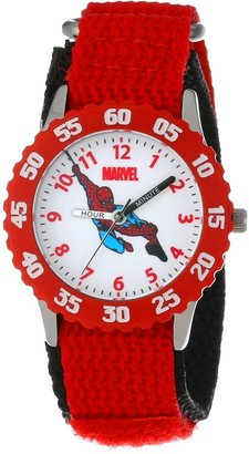 "Marvel Kids' W000104 ""Spider-Man Time Teacher"" Stainless Steel Watch"