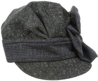 San Diego Hat Company San Diego Hat Women's Flower Button Tweed Cabbie Hat
