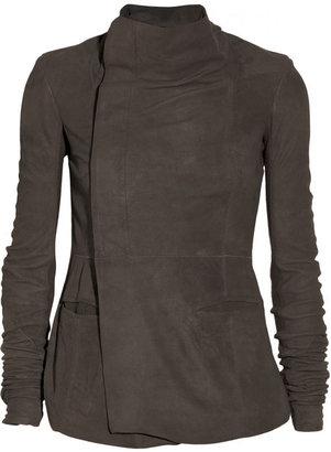 Rick Owens Eileen brushed-leather biker jacket