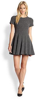 Tibi Tweed Fit-&-Flare Dress